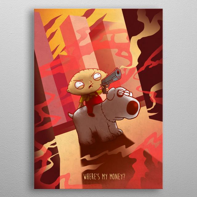 Stewie metal poster