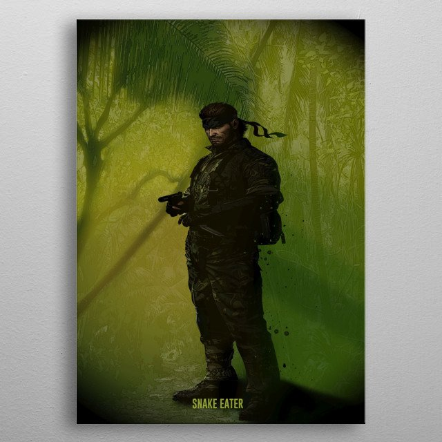Snake Eater or Big Boss? metal poster