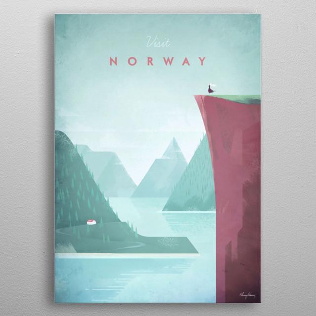 Norway metal poster