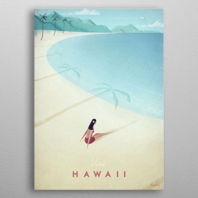Hawaii metal poster