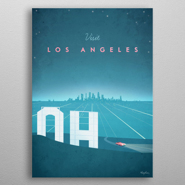 Los Angeles metal poster