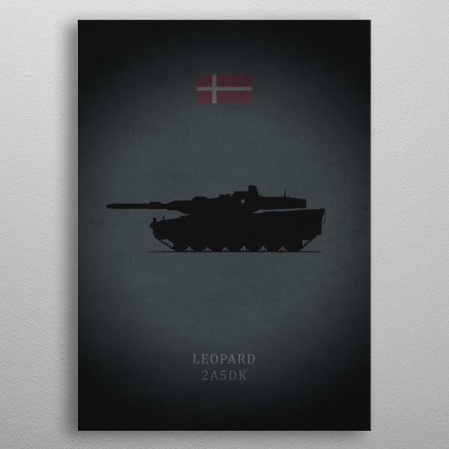 Leopard 2A5DK metal poster