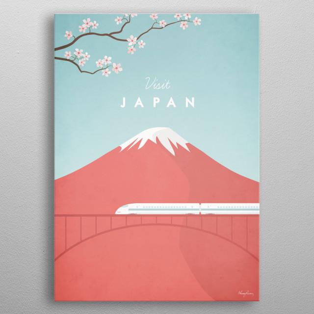 Japan metal poster