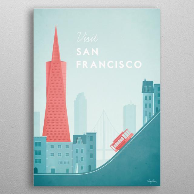 San Francisco metal poster