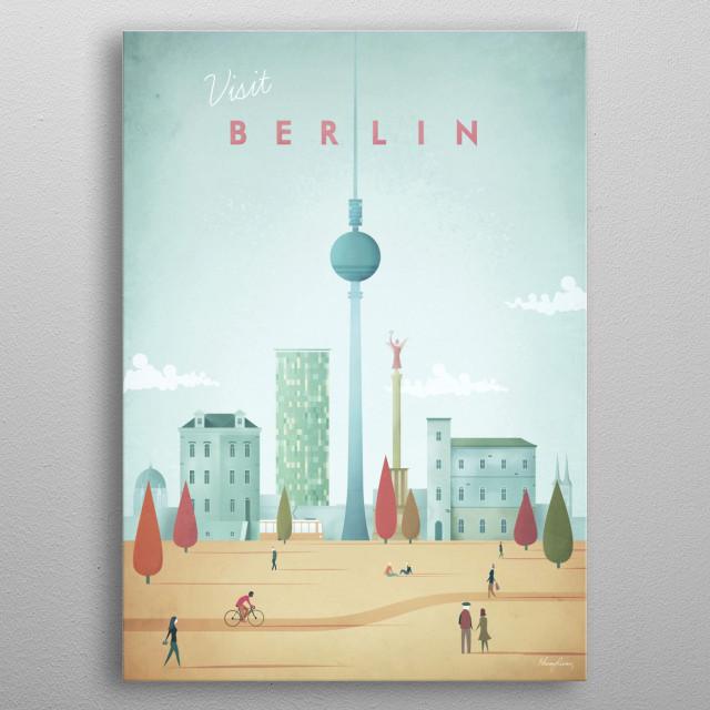 Berlin metal poster