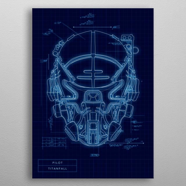 Pilot metal poster