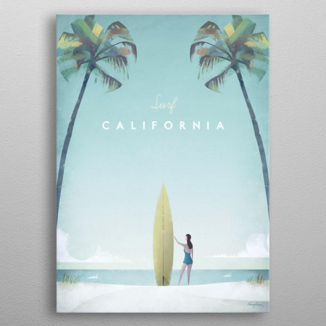 California metal poster