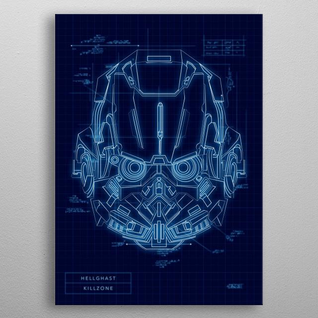 Helghast metal poster