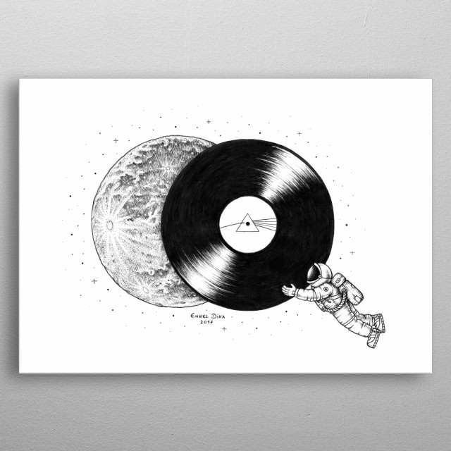 The Dark Side of the Moon metal poster