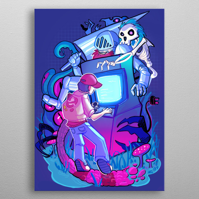 High-quality metal print from amazing Surreal Fantasy collection will bring unique style to your space and will show off your personality. metal poster