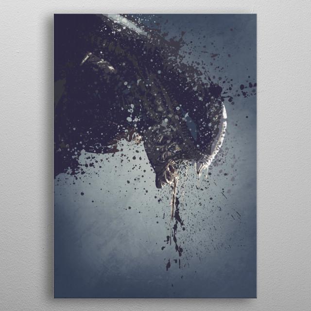 Alien Xenomorph splatter artwork version 1 metal poster