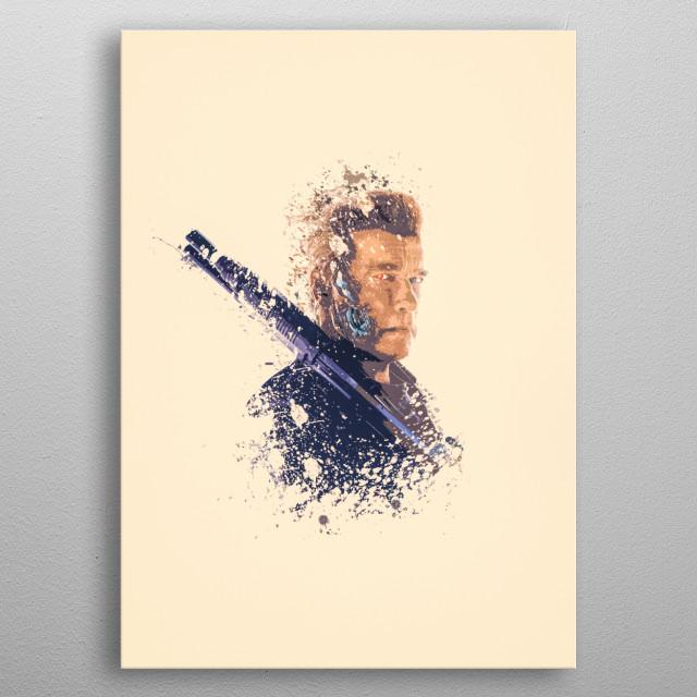 Terminator splatter painting  metal poster