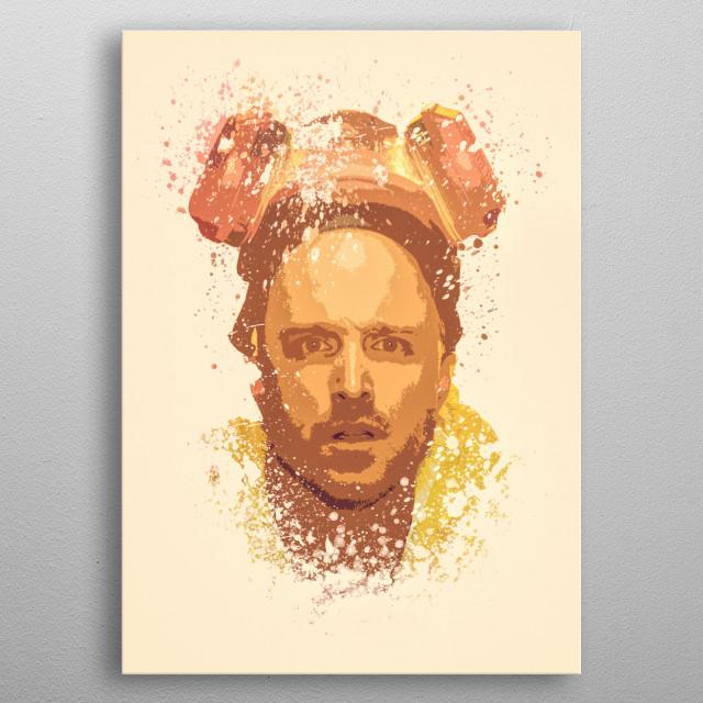 Breaking Bad, Jesse Pinkman splatter painting  metal poster