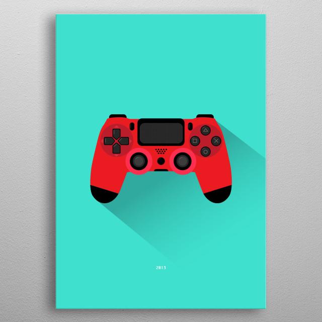 PlayStation 4 metal poster