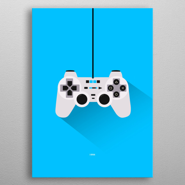PlayStation metal poster