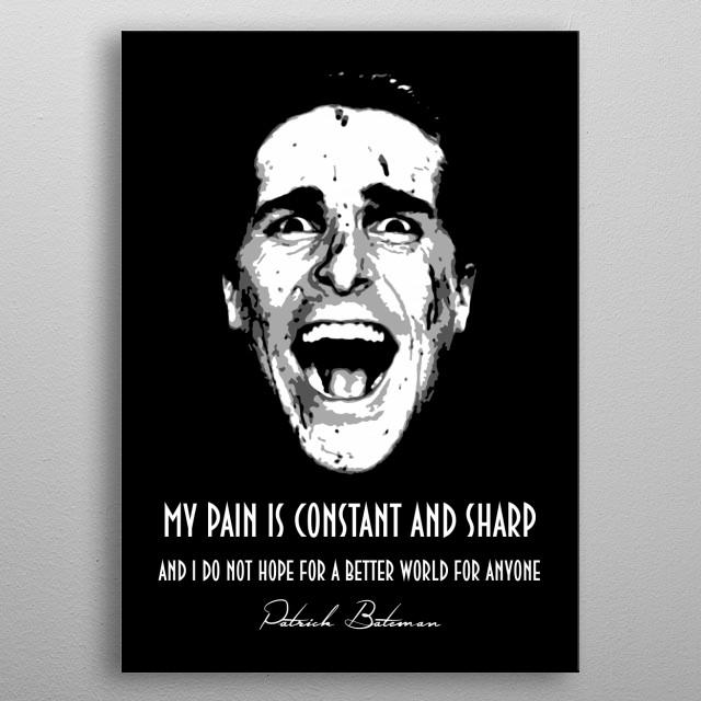 Patrick Bateman v1.0 metal poster
