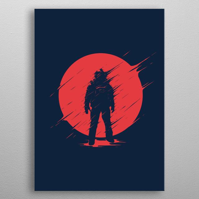 Red Sphere metal poster