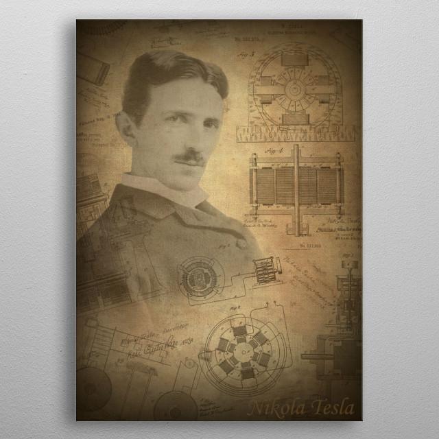 Nikola Tesla metal poster