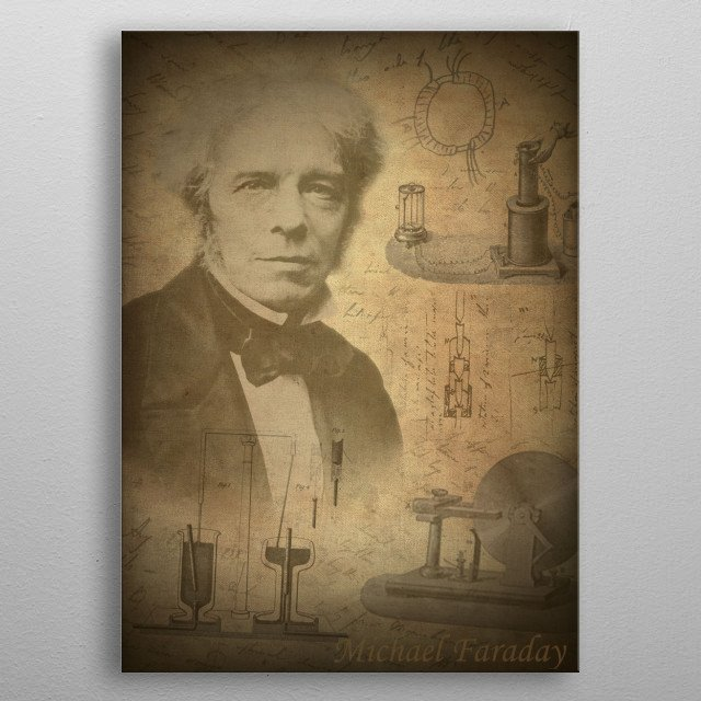 Michael Faraday metal poster
