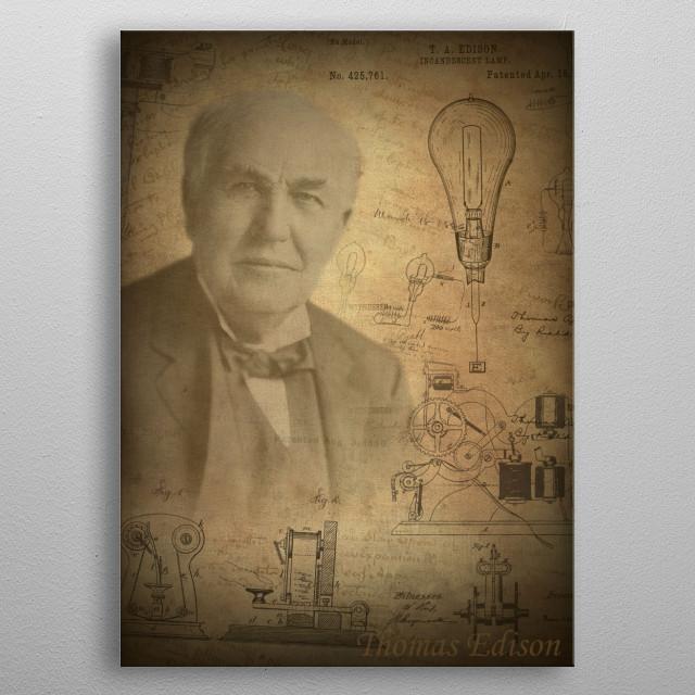 Thomas Edison metal poster