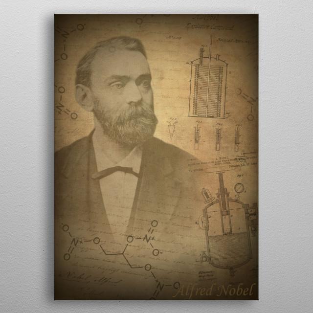Alfred Nobel metal poster