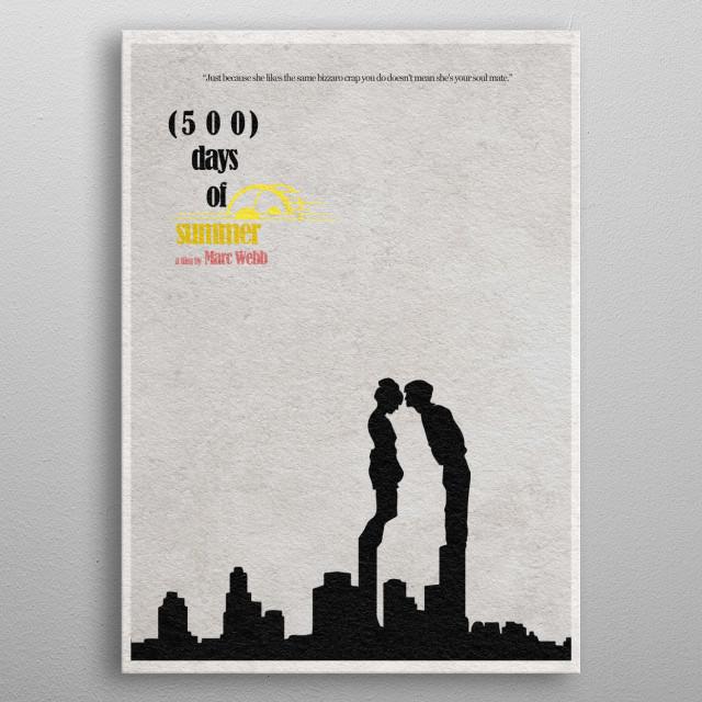 500 Days of Summer Minimalist Movie Poster metal poster