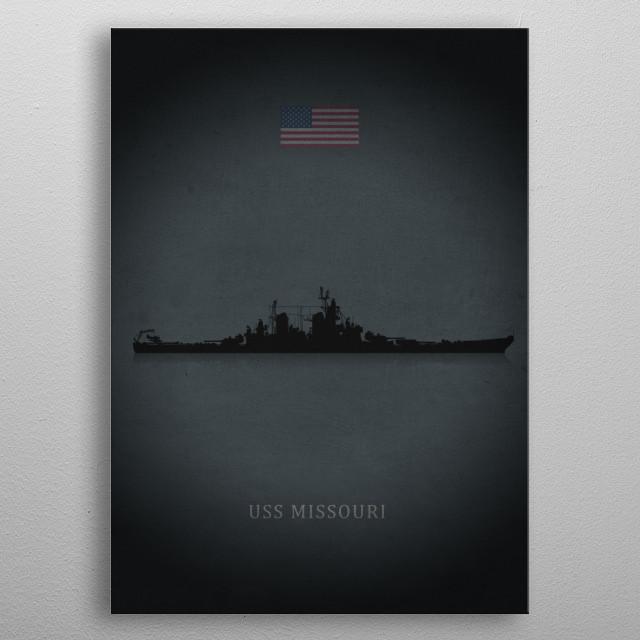 USS Missouri metal poster