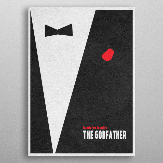 The Godfather Minimalist & Alternate Movie Poster metal poster
