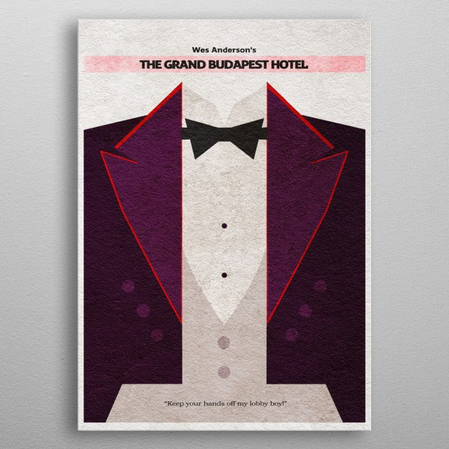 The Grand Budapest Hotel Minimalist Movie Poster metal poster