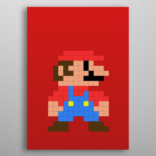 Mario Bros - Mario Pixel metal poster