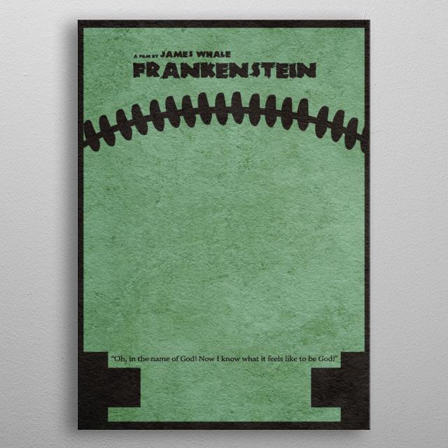 Frankenstein Minimalist & Alternative Movie Poster metal poster