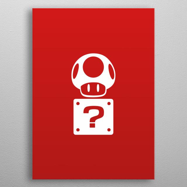 Mario Bros - Mushroom + Box metal poster