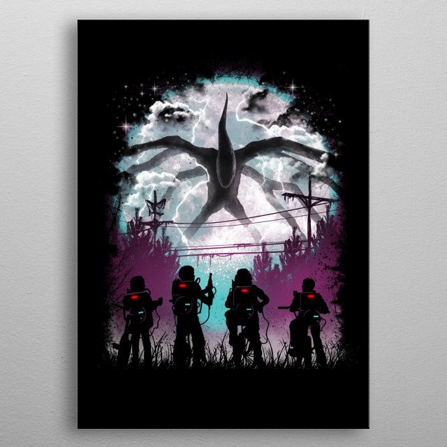 There's Something Strange in the Neighborhood metal poster