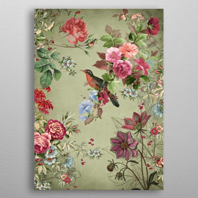 Autumn Flowers metal poster