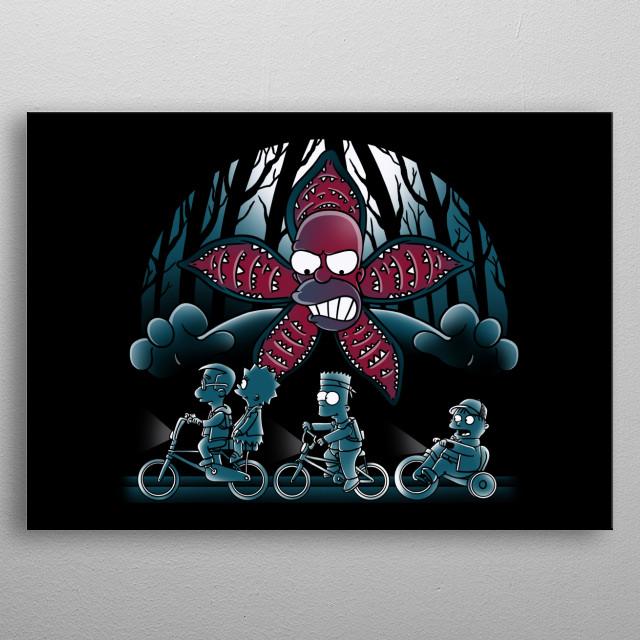 Stranger demogorghomer metal poster