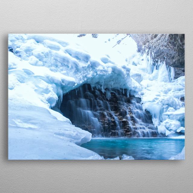 Upper Waterfalls of Johnston Canyon Banff metal poster