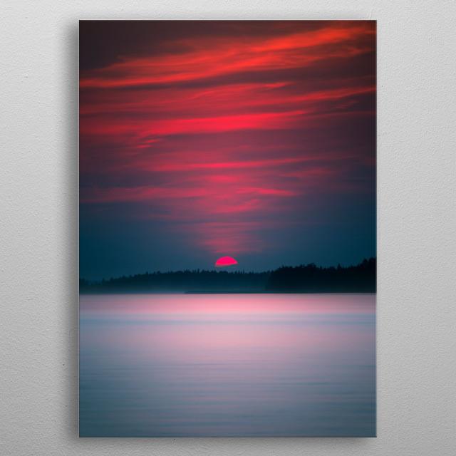 Lake sunset, Alberta, Canada metal poster