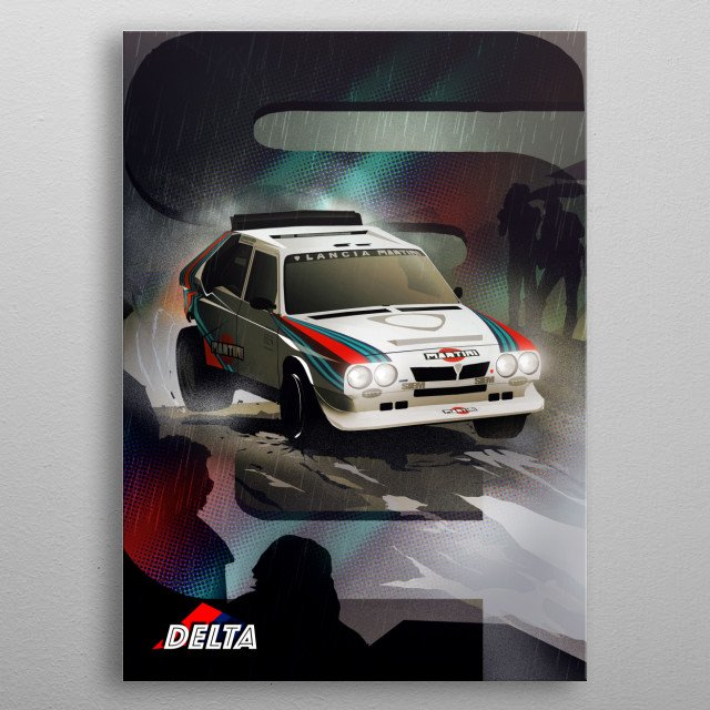 Lancia Delta S4 metal poster