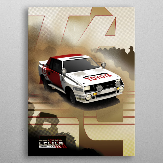 Toyota Celica Twin-Cam Turbo metal poster