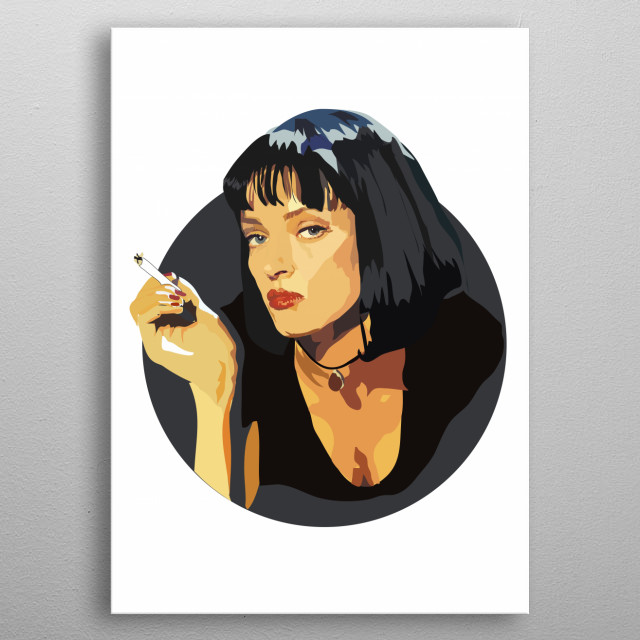 Mia Wallace - Pulp Fiction metal poster