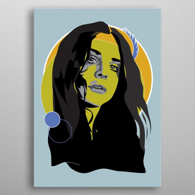Lana Del Rey - Woodstock in My Mind metal poster