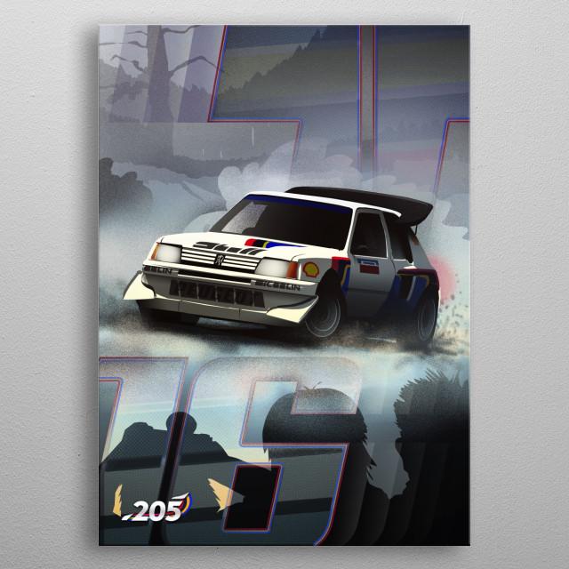 Peugeot 205 T16 metal poster