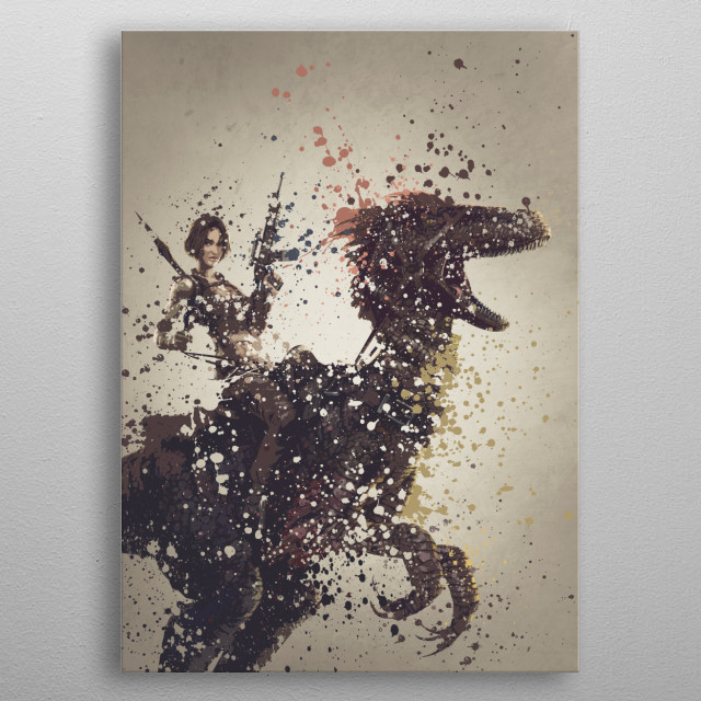 Ark version one,  splatter effect artwork. metal poster