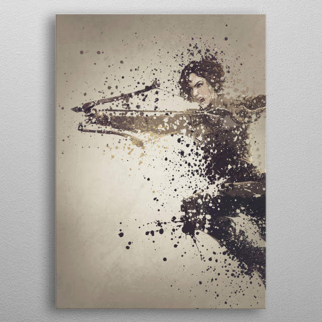 Ark version three,  splatter effect artwork. metal poster
