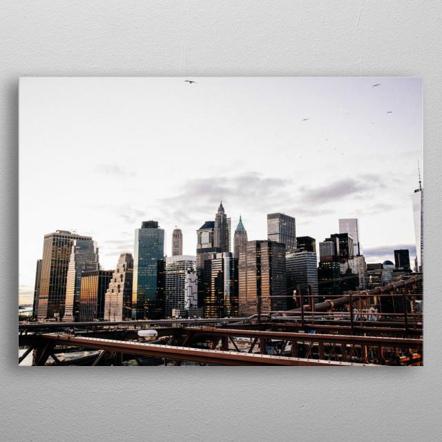 New York 10 metal poster