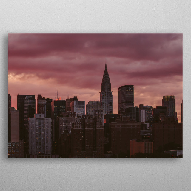 High-quality metal print from amazing New York collection will bring unique style to your space and will show off your personality. metal poster
