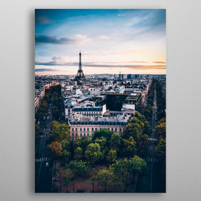 Paris metal poster