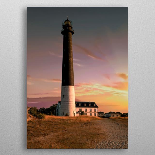 Lighthouses of Estonia - Sareema Island metal poster
