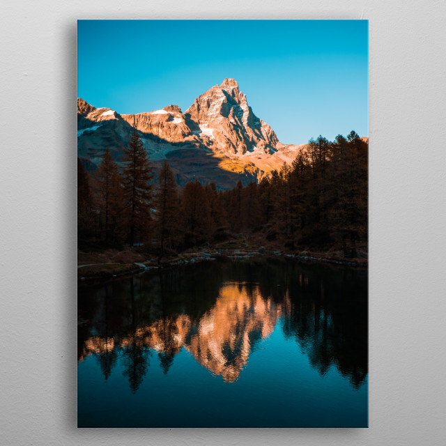 Reflection in the Nature metal poster