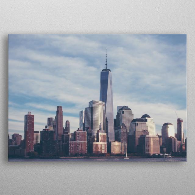 New York 08 metal poster